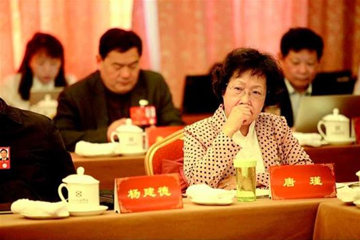 9小组讨论中,住鄂全国政协委员唐瑾正在认真聆听其他委员发言